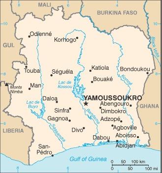 Costa d'Avorio_mappa