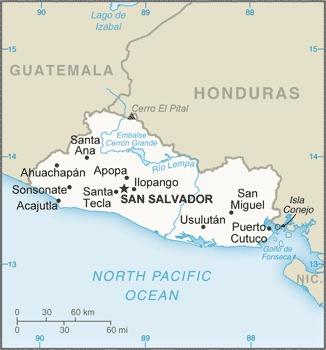 El Salvador_mappa