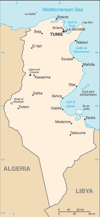 Tunisia_mappa